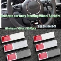 500pcs/1000pcs Car Steering Wheel Stickers logo for Audi A1/A2/A3/A4/A5 /A6 A7 A8 Q1 Q3 Q5 S R.S Auto Car Emblem Logo badge