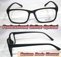 Con montura completa mate negro ópticos de moda por encargo lentes ópticas gafas de lectura 1 + 1.5 + 2 + 2.5 + 3 + 3.5 + 4 + 4.5 + 5 + 5.5 + 6