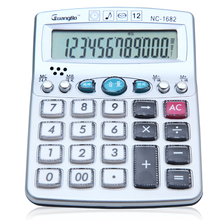 Guangbo Multifunctional Calculators Alarm Clock Office Hot Sale 12 Digit Big Display Portable Commercial Calculadora NC-1682