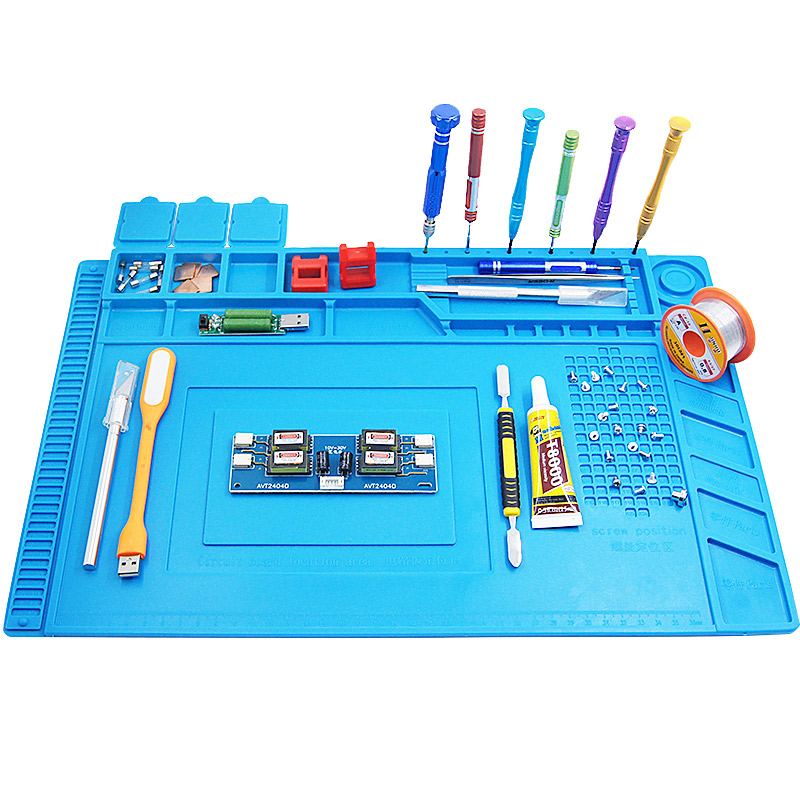 Heat Insulation Silicone Soldering Pad Mat  S-170 S-160 S-150 S-140 Desk Maintenance Platform For Repair Station Wit Magnetic