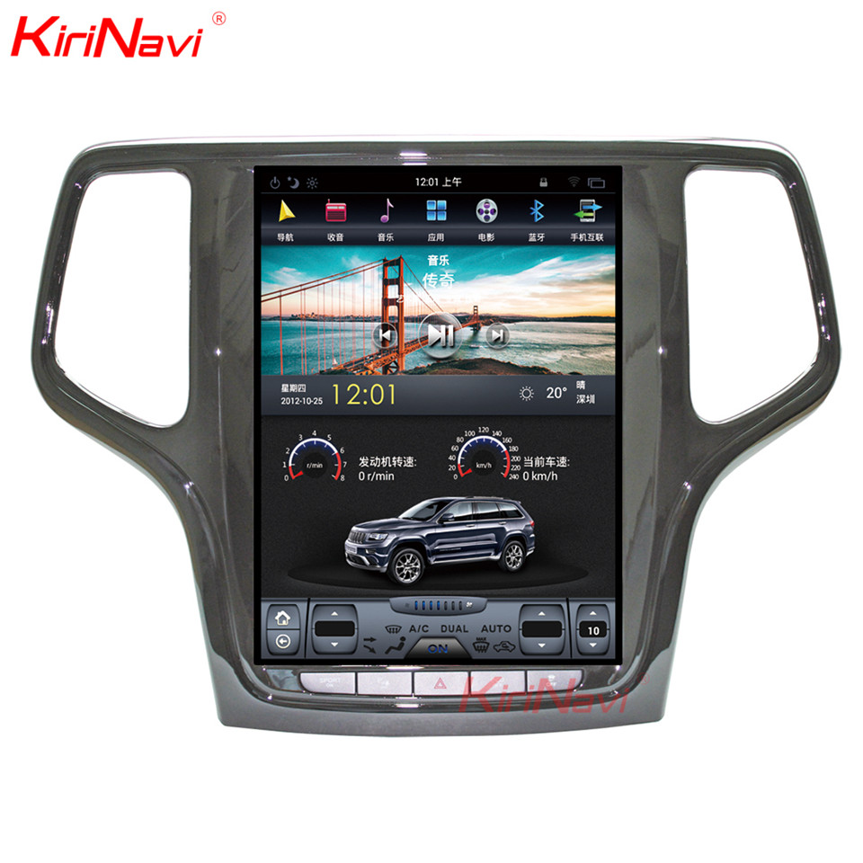 цена KiriNavi Vertical Screen Tesla Style 10.4 Inch Android 7.1 Car Radio For JEEP Grand Cherokee Car DVD GPS Navigation Bluetooth