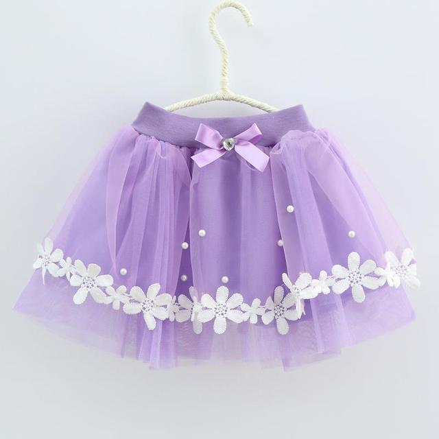 2017 girls princess skirt beaded gauze bow bright lace skir
