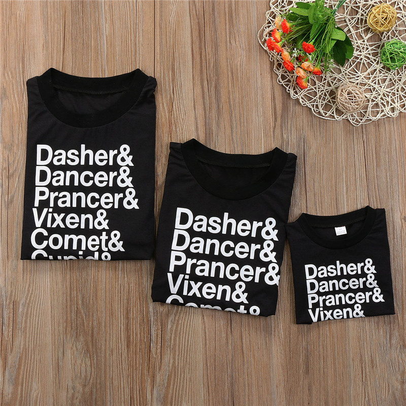 Father Mother Kids Clothes Christmas Family Matching Outfit
