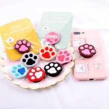 Finger Ring Holder Universal Cute Cartoon Cat Claw airbag  Smartphone Stand Expanding Grip Stretch Cell Phone