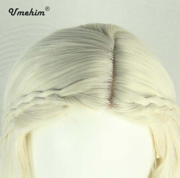 Famous Movie Light Blonde Cosplay Wig Long Curly Anime Girls Women