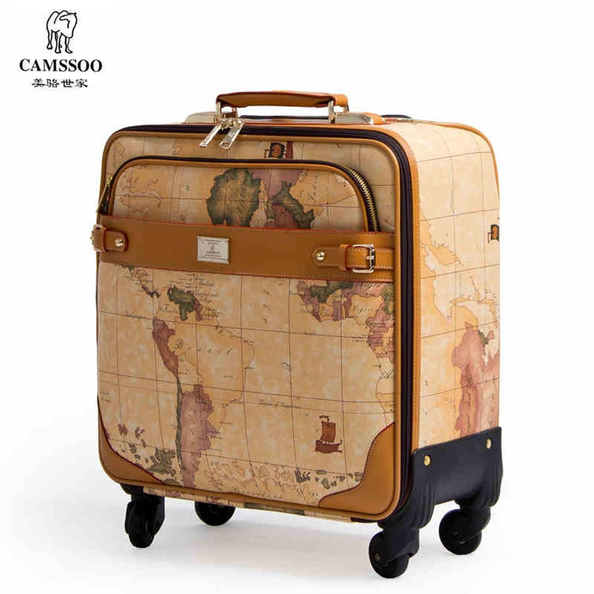 Nieuwe mode! Vrouwelijke / mannelijke vintage wereldkaart reisbagage - Trolley en reistassen - Foto 2