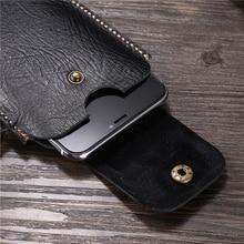 for Nokia 2.1 Belt Clip Holster Case for Nokia 5.1 Plus Cover for Nokia 6.1 Genuine Leather Waist Bag Coque for Nokia 7.1 Case