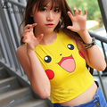 F573 Pikachu Cropped Harajuku graphic print  pokemon Crop Top Tank tops for ladies casual