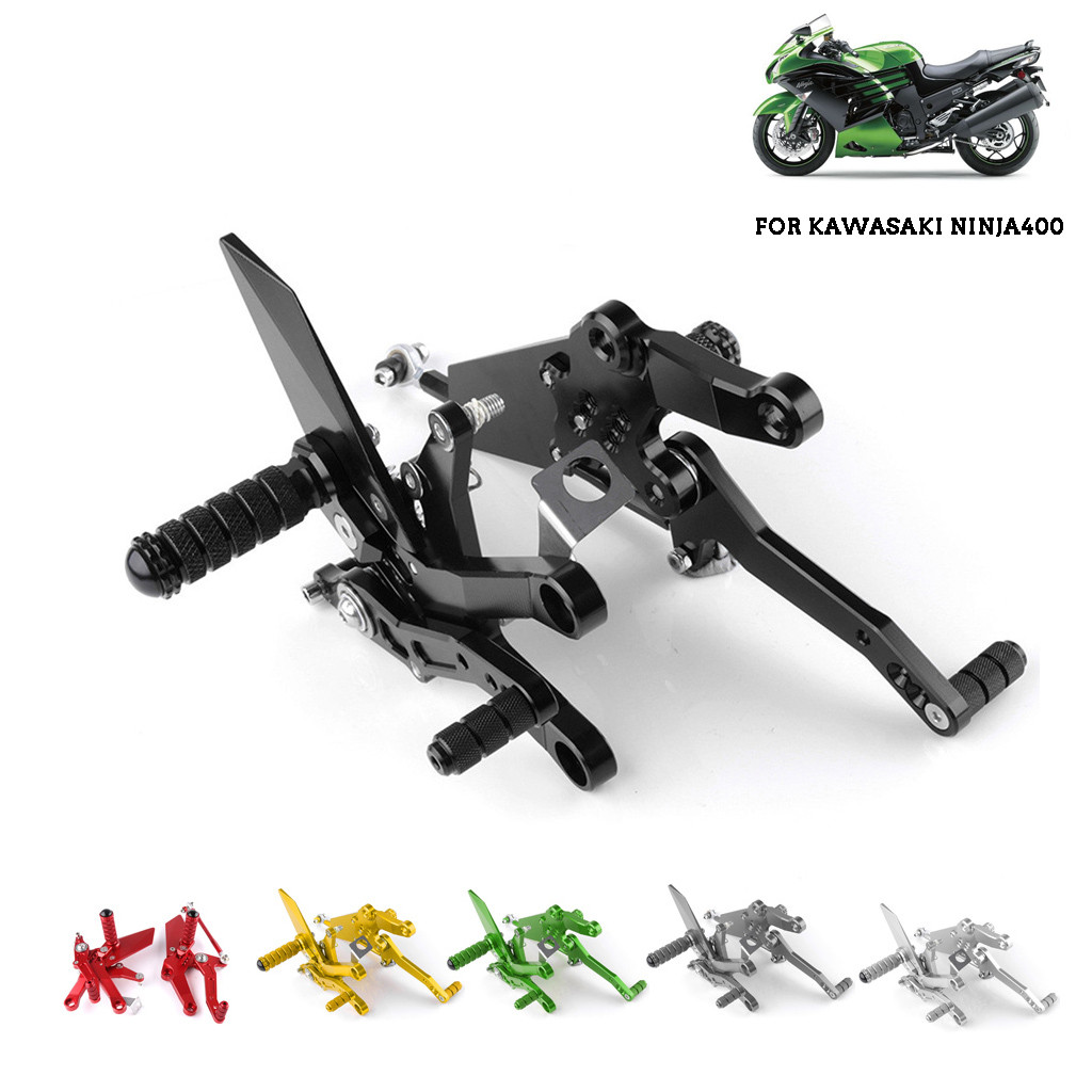 For Kawasaki Ninja 400 Ninjia400 2018 CNC Aluminum Alloy Rear Sets Rearset  Foot Rest Pegs Motorcycle Accessories