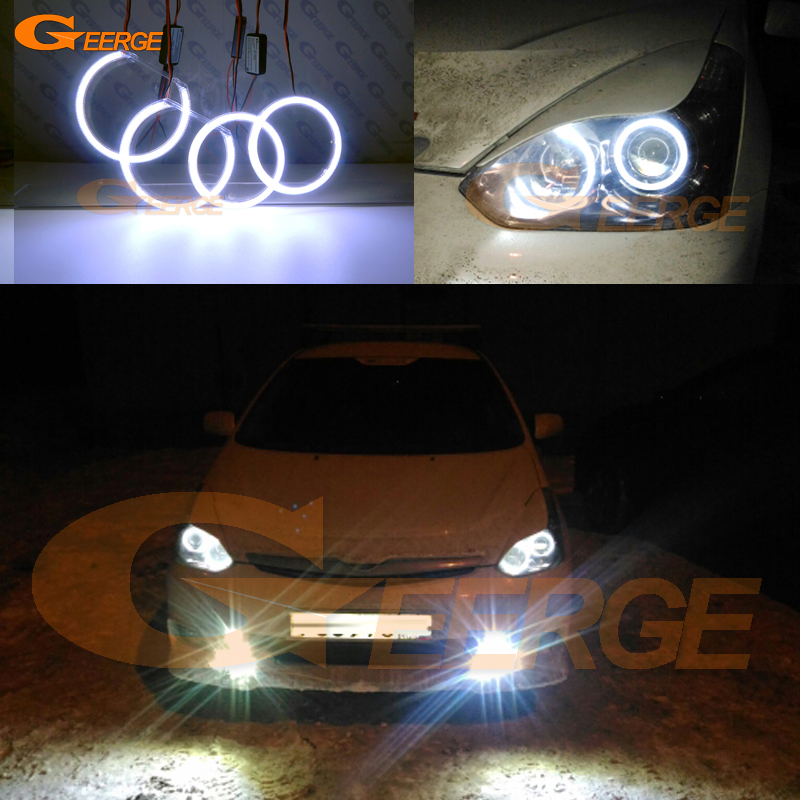 For TOYOTA WISH 2005 2006 2007 2008 2009 Excellent angel eyes Ultra bright illumination COB led angel eyes kit halo rings super bright led angel eyes for bmw x5 2000 to 2006 color shift headlight halo angel demon eyes rings kit