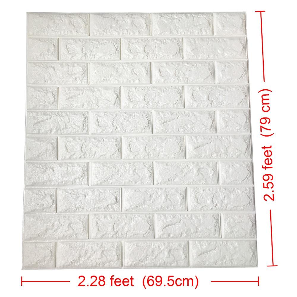 2.6Ft x 2.3Ft Peel in palica 3D stenske plošče za TV stene / ozadje - Dekor za dom - Fotografija 2