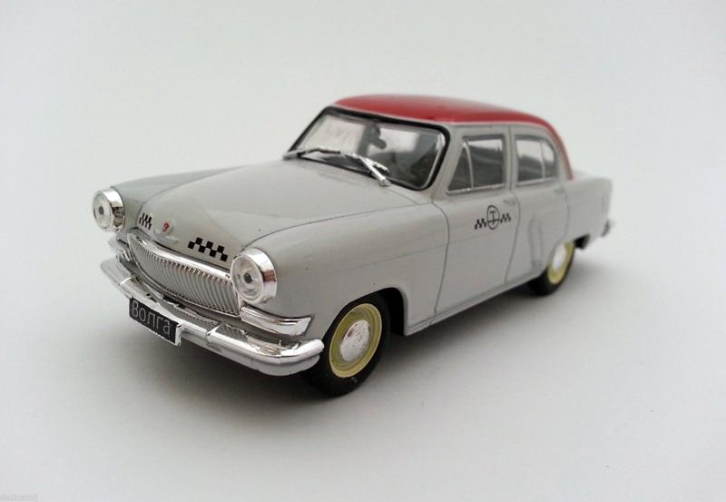 Fora da cópia 1:43 Rússia Soviética GA-21 VOLGA táxi modelo de liga leve modelo modelo Coleção