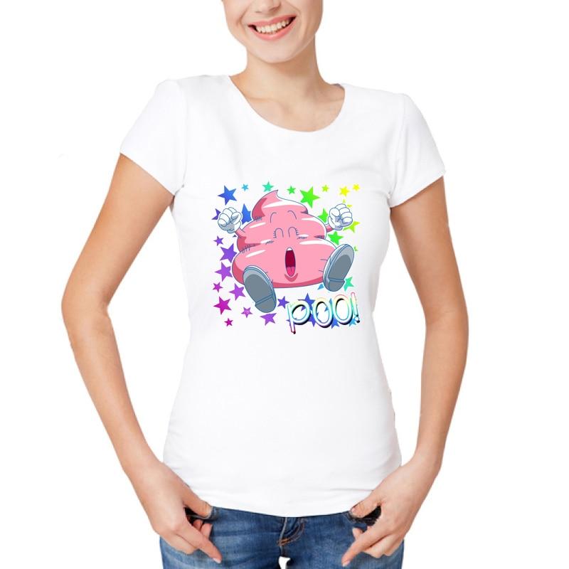 Womans Ladies Girls Cute Pink Poo Emoji Glitter Celeb T Shirt White Style Summer Women S ...