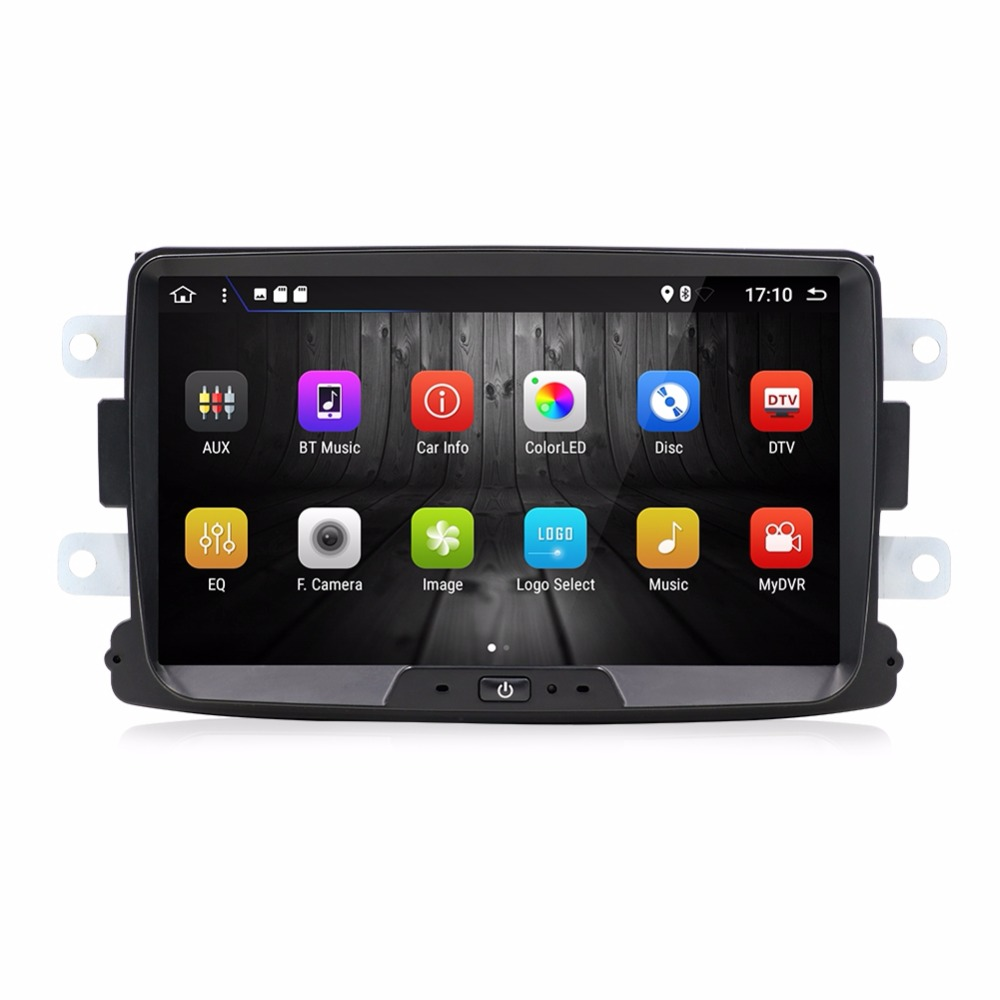 KLYDE 8 1 Din Android 8.1 8 Core 1024*600 Car Radio For Renault Duster 2010 Car Audio Stereo Multimedia Player