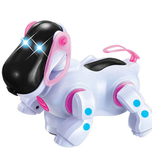 Electric Pet Dog Electronic Pets Robot Dogs with Music Lighting Bark Walk Universal Wheel Cute Interactive Toy for Children music for dogs