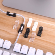 Self-adhesion Desk Organizers  Protector Ties Wire Cord Cable Clip  Management Wiring Accessories Cable Winder Holder Plastic 20pcs pack self adhesive wire organizer line cable clip buckle plastic clips ties fixer fastener holder