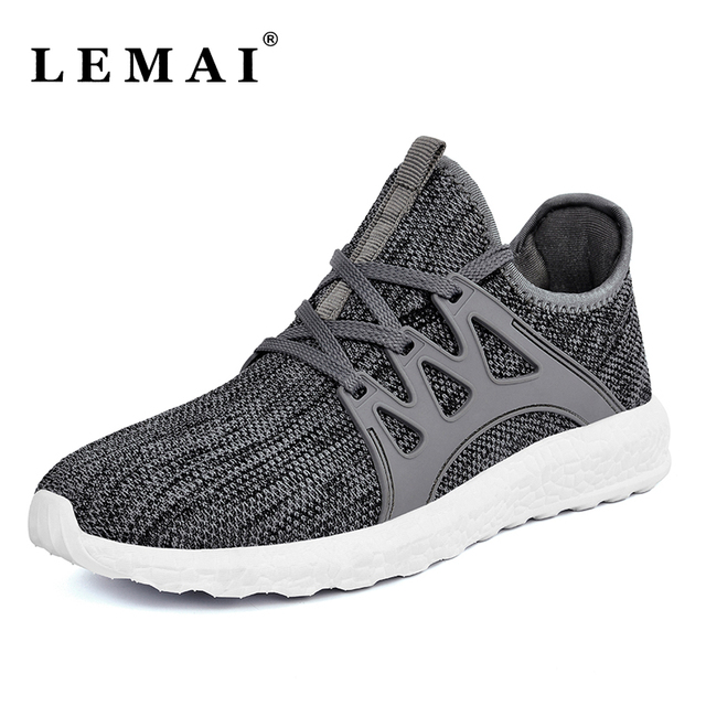 LEMAI Unisex Men Running Shoes For Women Athletic Run Trainers Sports  Sneakers Shoes Outdoor Breathable Running Shoes 1f8a5efd63d