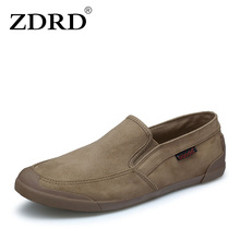 ZDRD Fashion Summer Men Canvas Flats Shoes Breathable Casual Boat Shoes Male Shoes Loafers Comfortable Ultralight Lazy Shoes