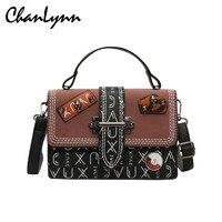 2019 Luxury Crossbody Bags for Women Skull Rivet Vintage Handbag Female Shoulder Bags Bolsa Feminina Messenger Bag Sac Femme