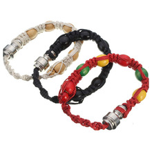 Portable Metal Bracelet smoke Smoking Pipe Jamaica Rasta Weed Pipe Mixed 3 Colors Retail Men/Women Gift Promotion