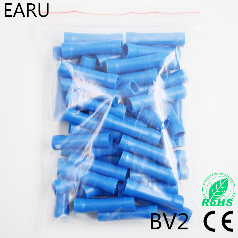 100 Clamp Connector Power Thieves Cutting Connector 1,5 to 2,5 mm² Fully Insulated Blue