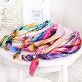 60cm*60cm Satin Square Neckerchiefs 2 pieces /lot Printing Flower Wristband Seasonless Hairband Neck Scarf