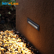Waterproof Outdoor Embedded LED Stair Lights Rectangle Recessed Buried Step Lamps IP65 Wall Mounted Spotlights Corridor 85-265V(China)