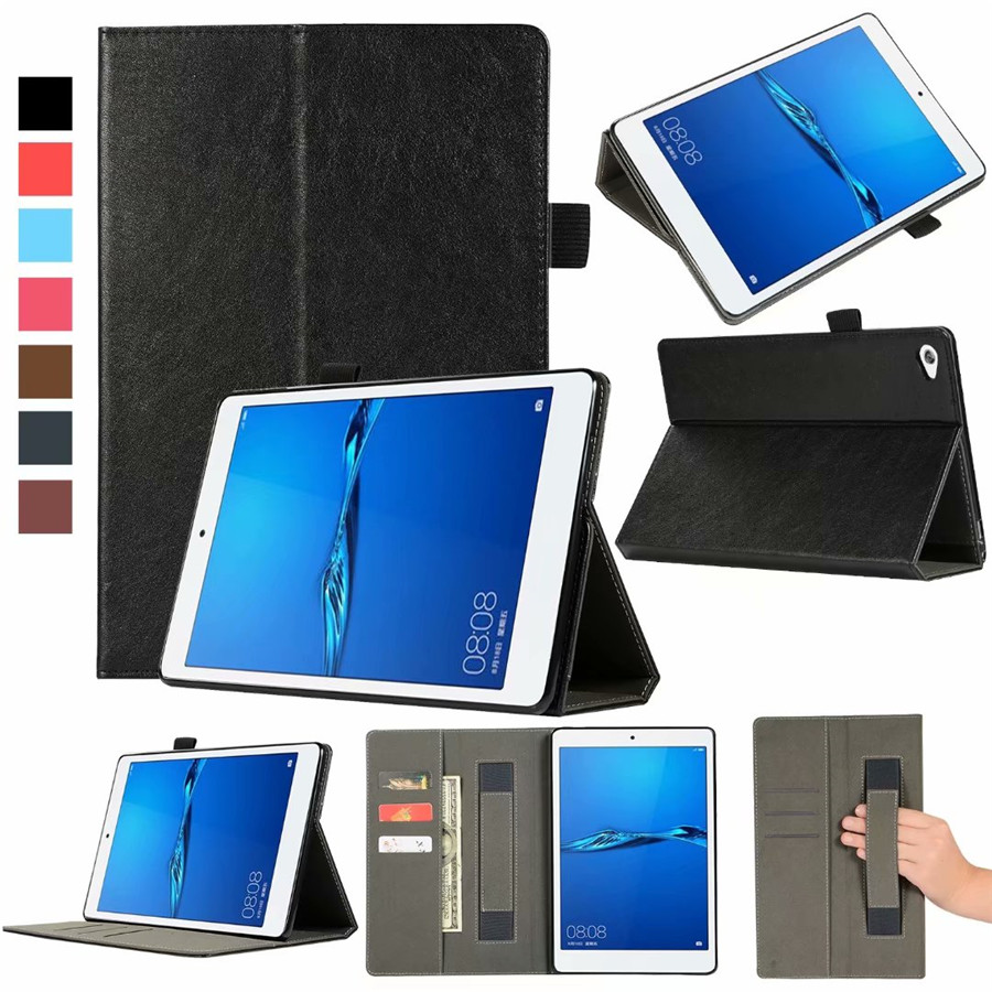 Case For Huawei MediaPad M5 lite 10 BAH2 L09 W09 W19 10 1 quot Cover Funda Tablet PU Leather Skin Hand Holder Stand Shell Card Slot in Tablets amp e Books Case from Computer amp Office