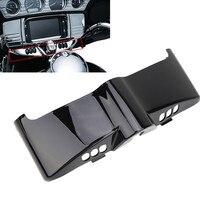 Switch Panel Covers Black Chrome Fairing Cap Cover For Harley Davidson Touring Road King FLHT FLHR FLHX FLHTCU 2014 2015 2016