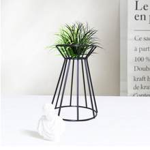 Wrought Iron Double Diamond Shaped Geometric Flower Frame Wall Hanging Fleshy Plant Flower Pot Rack Home Decoration(China)