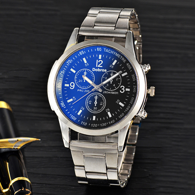 Business Casual Watch Men Fashion Men's Watch Full Stainless Steel Luxury Watches...