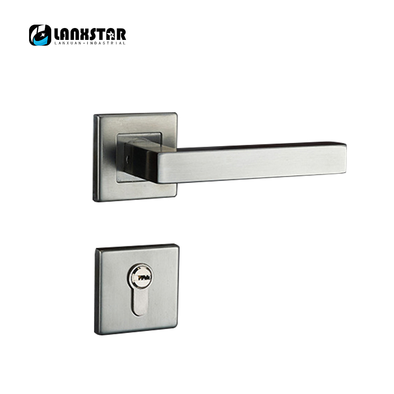 Professional Door Lock Factory Wholesale Stainless Steel Locks Room Door Split Lock Modern Wire Drawing Door-locks