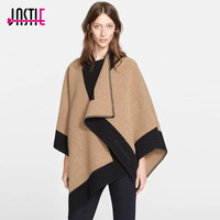 Jastie Autumn New Cardigan Women Winter Poncho Cape Top Coat Oversized Caaual Cape Poncho Shawl Women