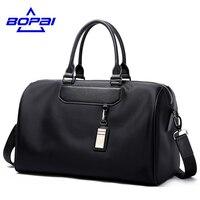 BOPAI Male Crossbody Shoulder Handbags Black Large Capacity Business Travel Men S Tote Bag Women Big