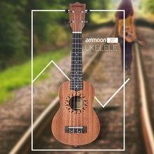 """2"""" Акустическая укулеле Sapele Ukelele 15 Fret 4 струны Гавайская гитара высокого качества струнный музыкальный инструмент"""