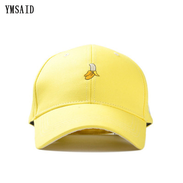Ymsaid New Arrival Spring Leisure Fresh Fruit Embroidery Hat Strawberry  Banana Cherry Orange Peach Baseball Cap 15b37562f3dd