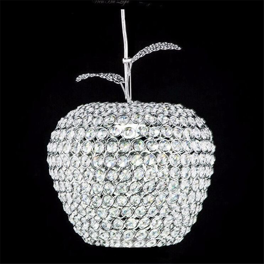 Lampada de LED K9 Crystal Pendant Lights Hanging Light Crystal Apple Pendant Lamps chrome hanging lamps abajur LED Light Home egypt imported crystal 8 light pendant lights in ball shape chrome pl1040