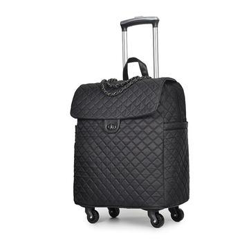 06ee1bb25 Marca mujeres ruedas bolsa de equipaje cabina bolsos de la carretilla con ruedas  equipaje rodante para la mujer maleta Trolley bolsas de ruedas