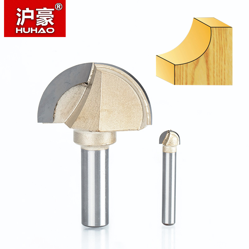 HUHAO 1pcs 1/2 1/4 Shank Double Edging Router Bits for wood cove box bit Tungsten Carbide Woodworking endmill miiling cutter best price 1 2 inch hss milling bits shank round nose cove core box router bit shaker cutter tools for woodworking