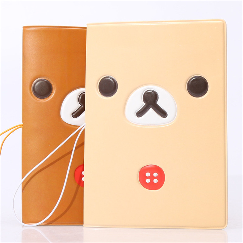 Cute Cartoon Smile Bear Passport Cover ID Credit Card Bag Women Travel 3D Embossed Leather PU Passport Holder Bag 14*9.6CM cartoon sofia travel passport cover bag cute hello kitty credit card id holders men women card holder high quality