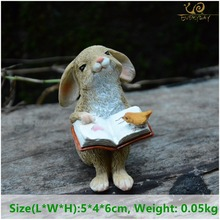 Everyday Collection easter decorations for home new year cute rabbit figurines miniature tabletop ornaments Fairy garden