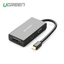 Ugreen Thunderbolt Порт Mini displayport для HDMI/VGA/DVI Адаптер Конвертер Кабель Для Apple MacBook Air Pro 4 К Mini displayport VGA
