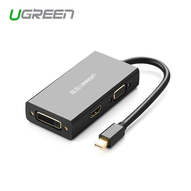 منفذ عرض صغير من Ugreen Thunderbolt إلى HDMI/VGA/DVI كابل محول محول لجهاز Apple MacBook Air Pro 4K منفذ عرض صغير إلى VGA