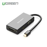 Ugreen Thunderbolt Mini Displayport для HDMI/VGA/DVI адаптер конвертер кабель для Apple MacBook Air Pro 4K Mini Displayport для VGA