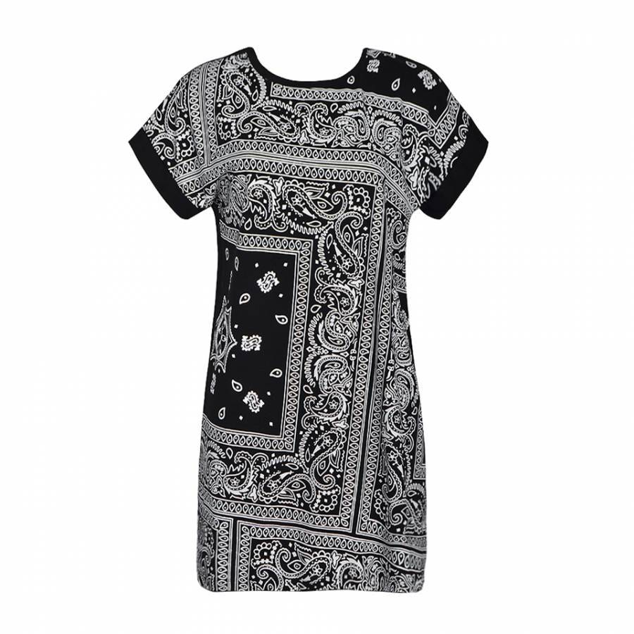 9346253a348a BANDANA T SHIRT DRESS 2016 NEW DESIGN Multicolor PRINT Casual Women DRESS  COZY 100% Cotton Plus Size women dress vestidos