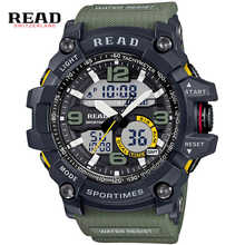 READ Sports Watches Silicone Strap Large Digital Dial Men Watches Military Army Wristwatch Back Light Alarm hours stop watch man - DISCOUNT ITEM  49% OFF Watches