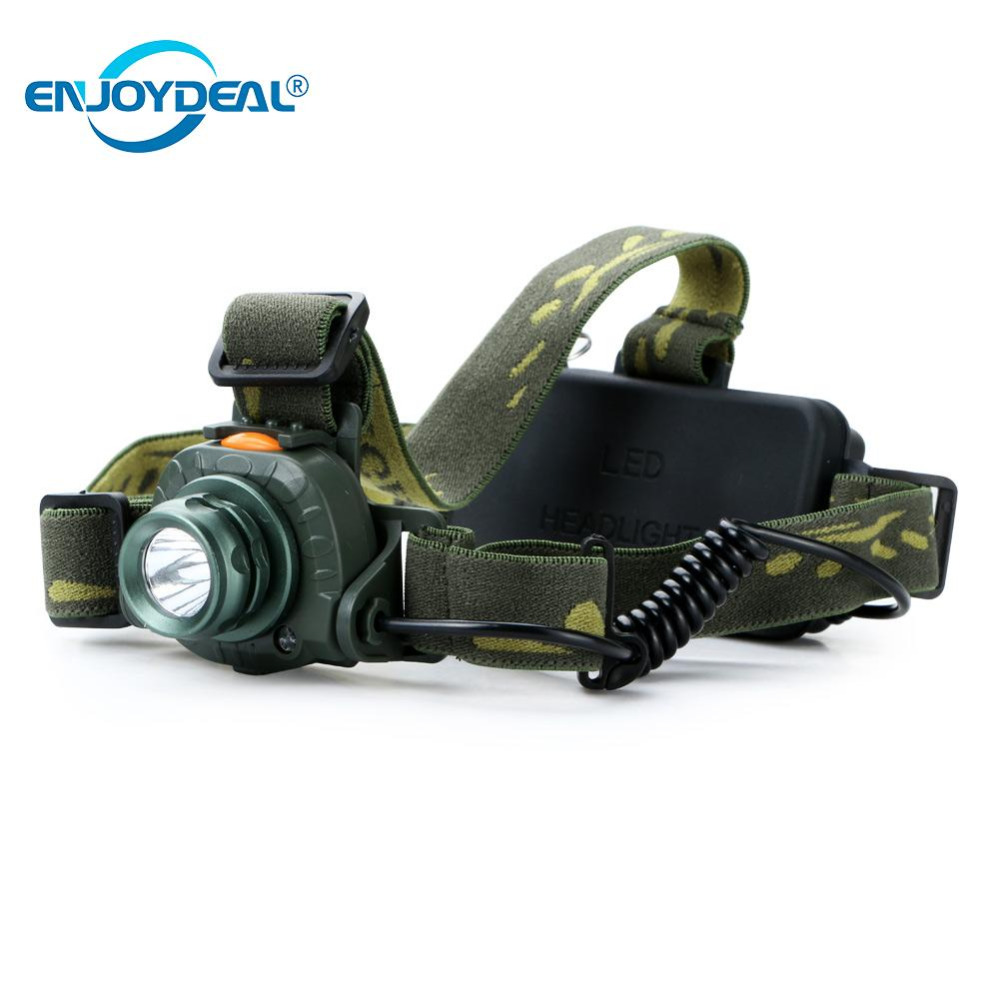Enjoydeal Q5 LED 2000LM Headlamp Motion Sensing Light Infrared Headlight Elastic Headband Head Lamp Hunting Fishing Camping