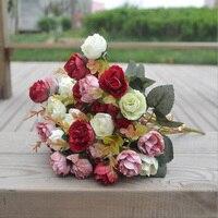 Elegante blume Europäischen stil rose rose arbeiter machen seidentuch blume machen zu hause dekoration blume