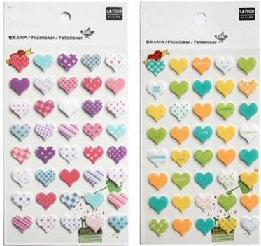 ᓂHermoso amor corazones coloridos DIY no tejida Fieltro Telas ...