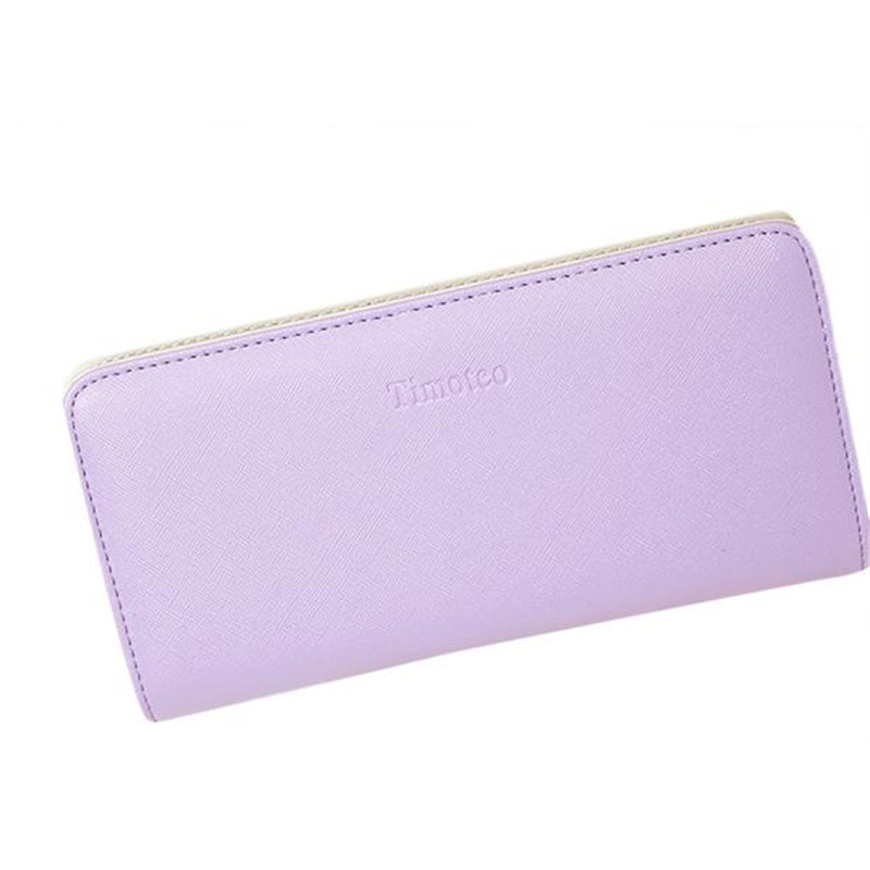Hot sale Excellent Quality Xiniu Womens Wallets And Purses Solid Candy Color Pure Long Purse Credit Card Holder Billetera Mujer